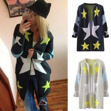 fashion stares printed  coat womens long jackets warm slim coat outwear coats long manteau femme abrigos mujer 3