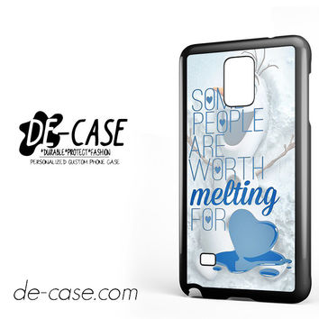 Some People Are Worth Melting For Olaf Funny Quote For Samsung Galaxy Note 4 Case Phone Case Gift Present