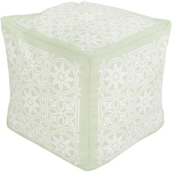 Harmony Outdoor Safe Pouf ~ Mint
