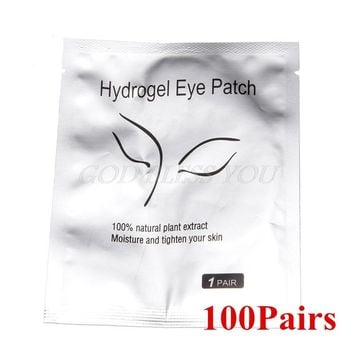 100Pairs/Lot Under Eye Pads Lash Eyelash Extension Paper Patches Eye Tips Sticker Wraps Paper Patches Eyelash Make Up Tools NO.3
