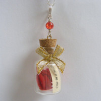 One in a Million Bottle Miniature Necklace Pendant  by NeatEats