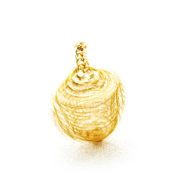 Wire Crochet Spinning Top, Golden Dreidel