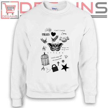 Buy Sweatshirt Tattoo Harry Styles Sweater Womens and Sweater Mens