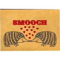 Wood Folding Card Smooch