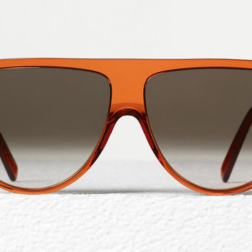 Celine - Thin Shadow Transparent Rust Acetate Sunglasses, Brown Shaded Lenses