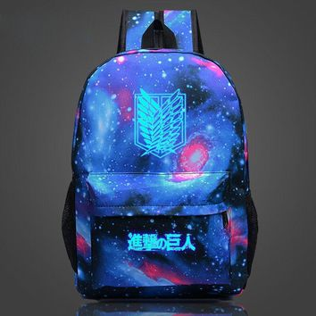 Cool Attack on Titan new arrival 2018 anime backpack  School Backpack Men Knapsack Scouting Legion Dual Wing Bag AT_90_11