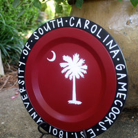 University of South Carolina Hand Painted Wooden Tray