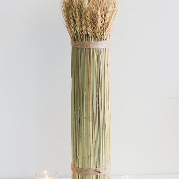 "Natural Dried Autumn Wheat Bundle - 20"" Tall"