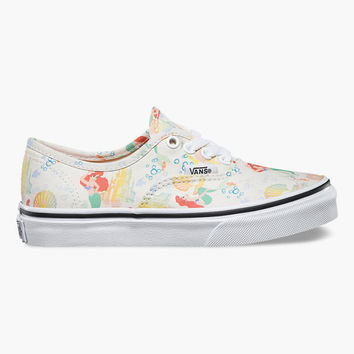 Vans Disney Ariel Authentic Girls Shoes Multi  In Sizes