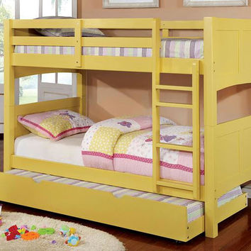 Daisy Mae Yellow Twin over Twin Bunk Bed