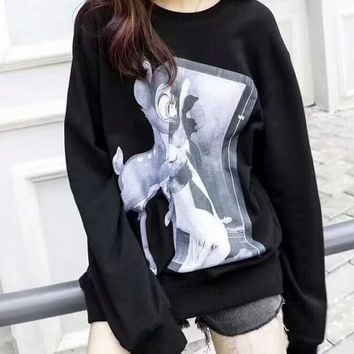 One-nice™ Givenchy Print black Long Sleeve Women Fashion Top Sweatshirt H-CN-CFPFGYS