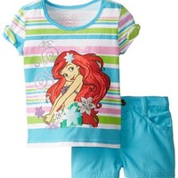 Disney Girls' 2 Piece Ariel Short Set