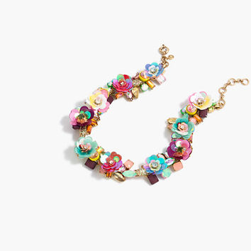 J.Crew Womens Blooming Sequin Paillette Necklace