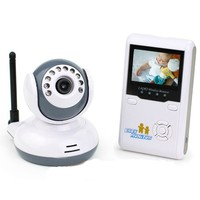 Trendlife 2.4 Inch TFT LCD Screen Digital Wireless Video Portable Baby Monitor Rechargable with Infrared Night Vision 2-way talk,2.4GHz,White