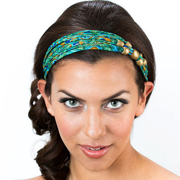 Peacock Headband, Unique Headband, Summer Headband, Headbands For Women