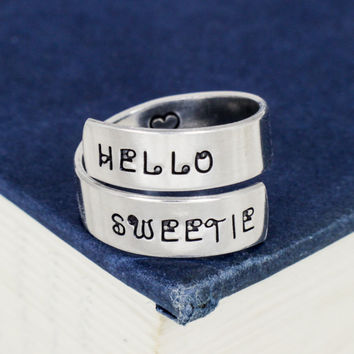 Hello Sweetie - Doctor Who - Tardis -  Wrap Ring