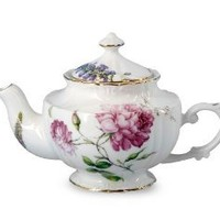Gracie China Dahlia Porcelain 2-Cup Tea Pot