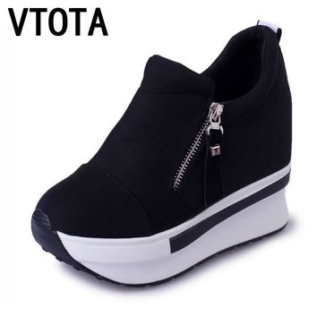 VTOTA Women Casual Platform Shoes Fashion High Heels Shoes Woman Wedges Women Shoes Loafers Heigh Increasing zapatos mujer B98