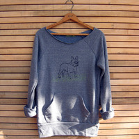 pant...pant...pant...LETS PLAY French Bulldog Sweatshirt, Dog Sweater, Frenchie Clothing, S,M,L,XL