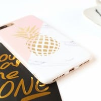 Pineapple Marble Phone Cases For iphone 6