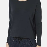 Topshop Long Sleeve Crepe Tee