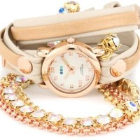 La Mer Collections Women's LMMULTI5002RAIN Rainbow St. Tropez Chandelier Crystal Wrap Watch: Watches: Amazon.com
