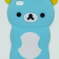 2 Item Combo Light Blue Teddy Bear Soft Silicone Case for Apple iPod Touch 4:Amazon:MP3 Players & Accessories