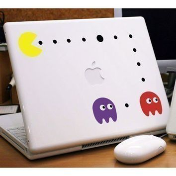 Pacman, Blinky and Pinky Small - Wall/Laptop Decal