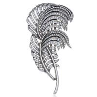 Bridal Crystal Leaf  Comb  | Bridal Hair | by Ben Amun