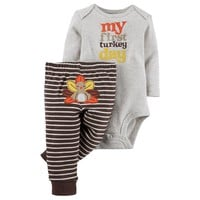 Carter's ''My First Turkey Day'' Bodysuit & Pants Set - Baby Boy, Size: