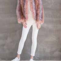 Fluffy Fur Fever Jacket Multi-Color - Pellobello