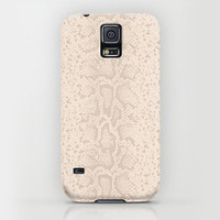 Apple iPhone case iphone 5 iphone 5s iphone 5c iphone 4 iphone 4s iPhone 3gs Samsung Galaxy S5 Galaxy S4. White Cream Snake Skin Phone Case.