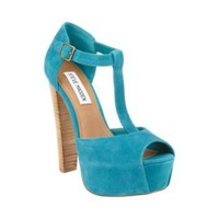 DAQUIRII TEAL SUEDE women's dress high platform - Steve Madden