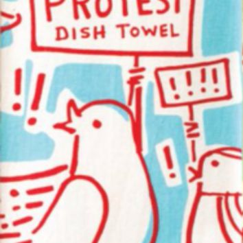 This is My Protest Dish Towel in Red White and Blue