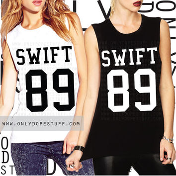 Taylor Swift Team Jersey Shirt Muscle Tee Jersey 1989 Album Shirt