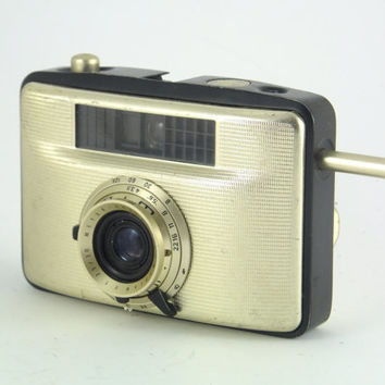 Vintage Welta  Penti II  Camera 60's Working Gold and Black, Rare Camera, Half frame Film