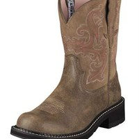 Ariat Boots Women's Brown Bomber Fatbaby II Cowgirl Boots