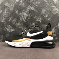 Nike Air Max 270 Black/ White/ Gold Shoes - Best Online Sale
