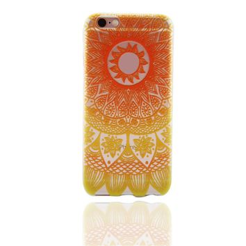 Orange Lace Case for iPhone 6s 7 7Plus iPhone X 8 Plus & Gift Box