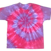 Child Small/ Tie Dye Shirt/ Hot Pink and Purple Spiral