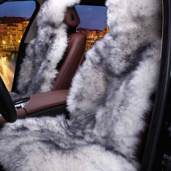 1 piece Fur Not so Fluffy Seat Cover not 2 pieces