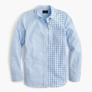 Gingham cocktail shirt