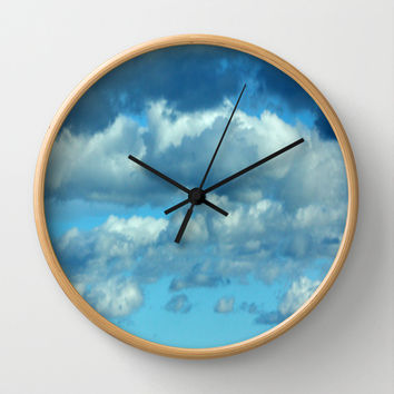 German clouds Wall Clock by LoRo  Art & Pictures