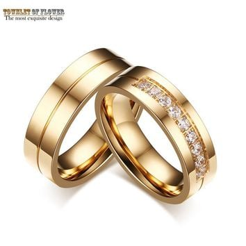 New Rings For Women Simple Titanium Steel Couple Rings Selling Classic Wedding Engagement Ring Gold Jewelry Ring For Men Anel