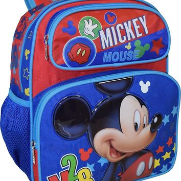 """Disney Mickey Mouse Deluxe Blue 12"""" Small School Bag Backpack"""