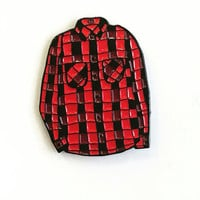Red Flannel Pin