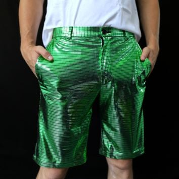 Clearance - Electro Shorts for Men - Green & Pink