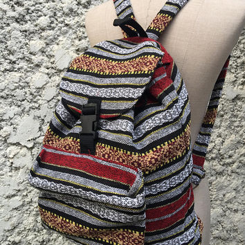Aztec Boho Tribal Backpack Festival Travel School bag Hippie Ethnic Tapestry Woven Style Native Southwestern Design Vegan Rucksack Gift Men