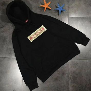 Supreme x Gucci Woman Men Fashion Hoodie Top Sweater Pullover2