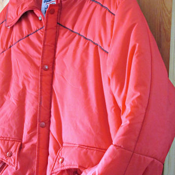 BIG SALE Ski Jacket 70's Vintage Red and Navy Jean Claude Killy Olympic Champ Ski Wear RARE sz 42